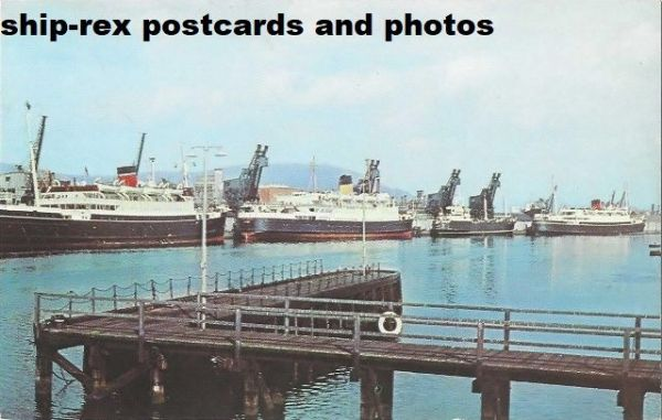 Belfast (Northern Ireland) ferry port, postcard